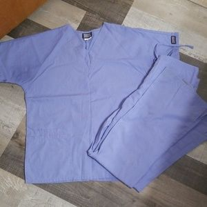 Blue scrubs set